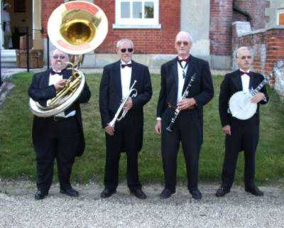 Jazz band at a murder mystrey event