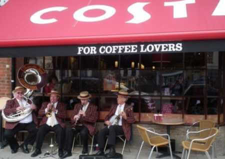 Acoustic Jass hired for the opening of Costa Coffee