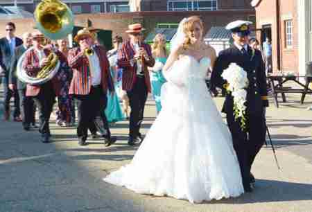 Wedding entertainment, music for the wedding reception, Jazz Band at Wedding