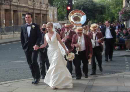 Traditional jazz band for hire in Oxford for a Wedding