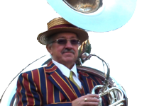 Martin Jones and his Sousaphone